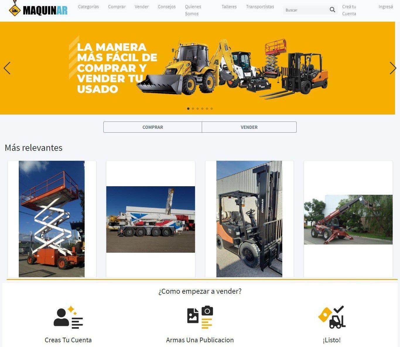 Nace MaquinAr: el primer marketplace argentinoespecializado en maquinaria usada